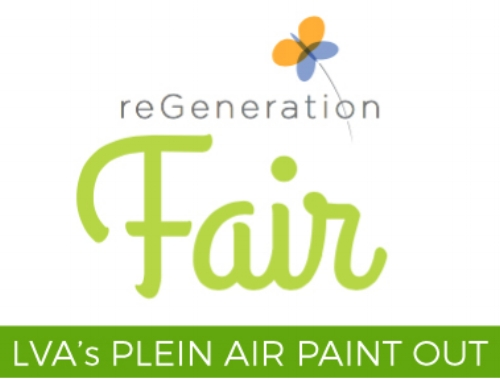 LVA will be on-site at Waterfront Botanical Gardens' annual free, family-friendly fair with our Plein Air Paint Out.  Come see – and celebrate – the transformation of neglected green space in Butchertown into the thriving Waterfront Botanical Gardens. There will be food trucks, adult beverages, crafts, demos, nature activities, and more, including: Kentucky's largest flower mandala (bring flowers!); weed walk; solar power demonstration; free canoe tours; butterfly tent; beekeeping; rainwater demo; live raptors; baby goats; face painting; paper flower workshop; bonsai display and live music by the Porch Possums. Rain or shine.   8:00 am – Site opens for Plein Air painters. 2:00-5:00pm – ReGeneration Fair (open to the public) 3:00pm – Paintings will be turned in for judging. 3:30pm – Award presentation. 3:30-5:00pm – Sale of paintings