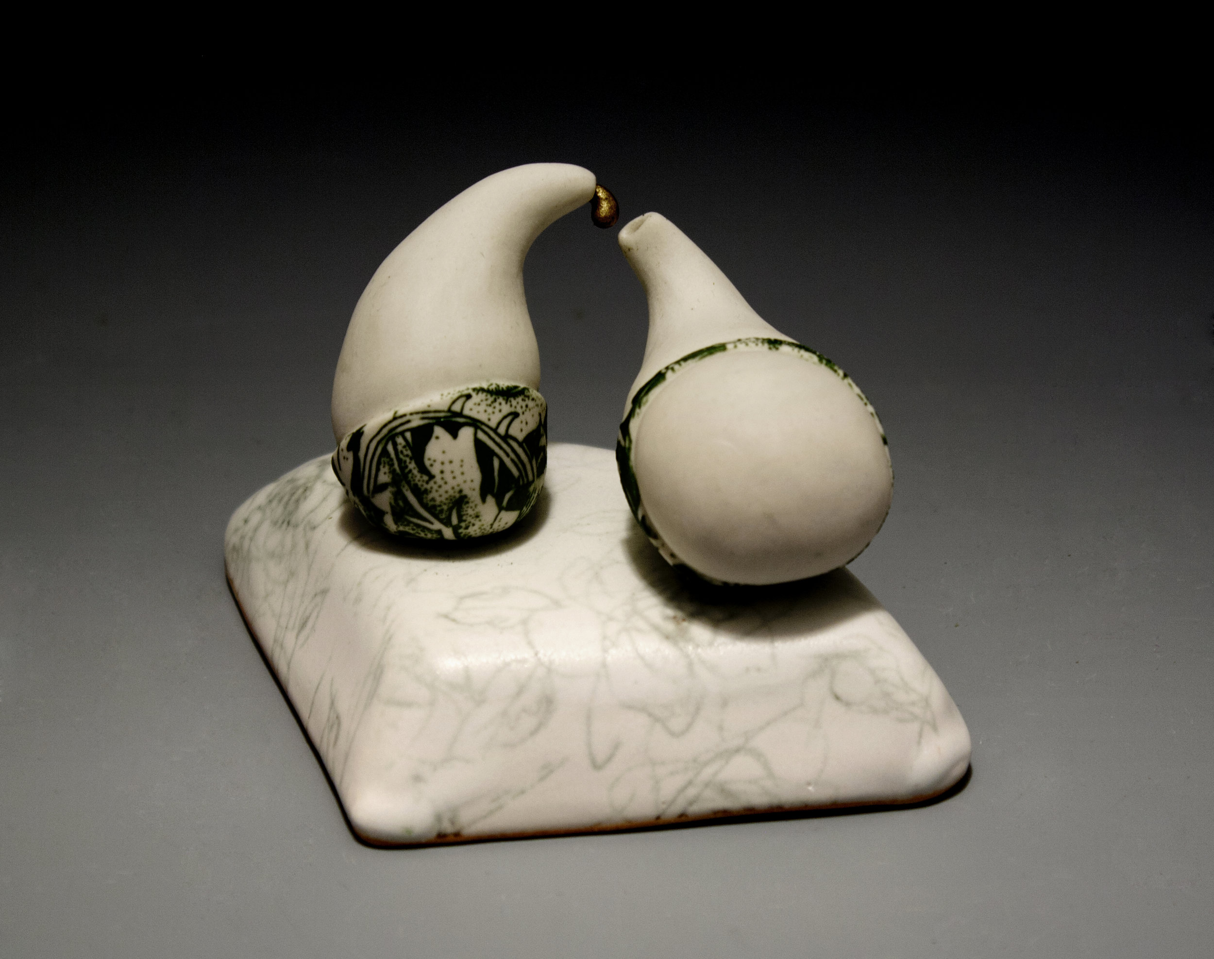 """Enticement"" by Amy Chase, 3x4x3in, Porcelain, Underglaze, Luster"