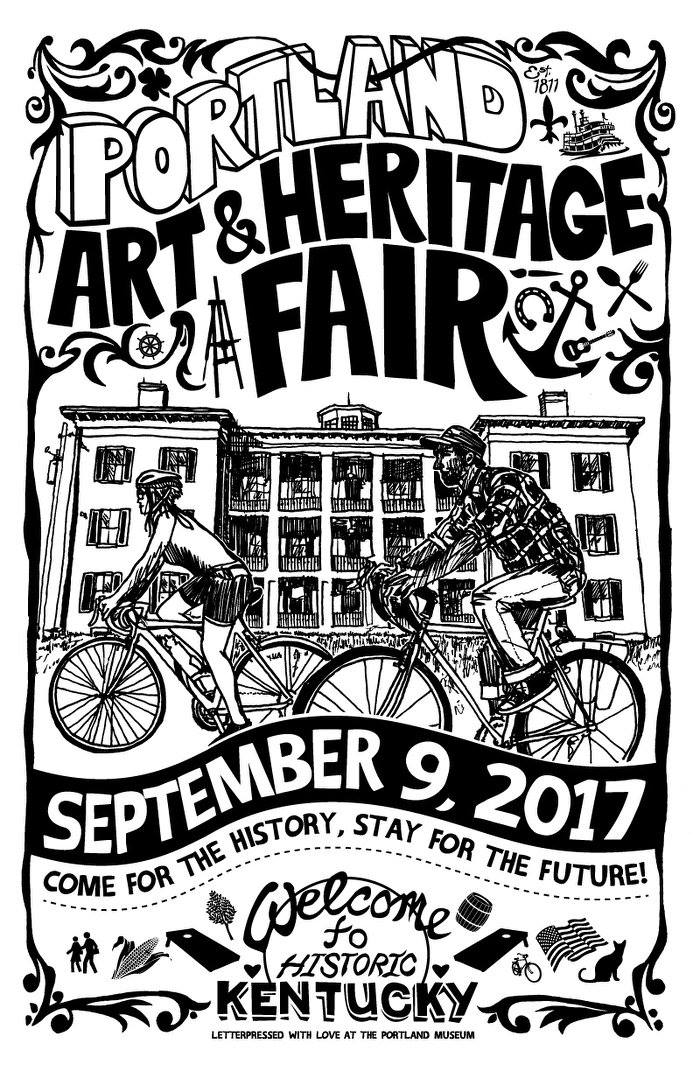 """US - SATURDAY!:   The 4th Annual Portland Art & Heritage Fair is this Saturday!    ONGOING:  Bryan Zadd debuts with """" Welcome to My Nightmare """" at Dragon King's Daughter in New Albany   FRIDAY:  """" New Recruits """" closes at the Cressman   SATURDAY:  Ryan Case shows """" How to Make a Monster """" at Consider Boutique  Bob Lockhart  returns to Revelry with """"Untold Portraits and Profound Statements"""""""