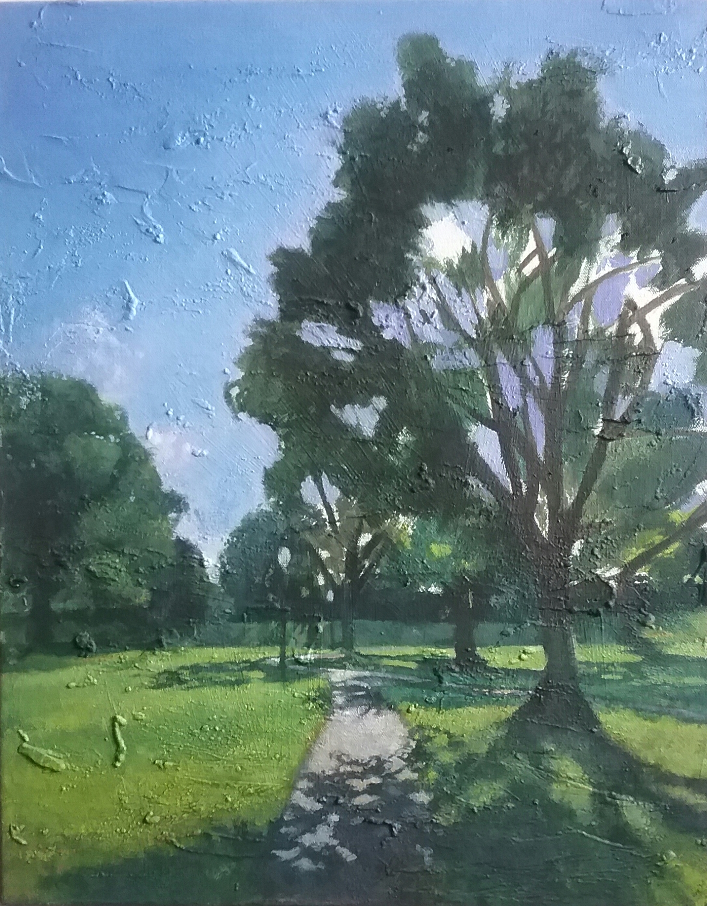 """""""Chickasaw Park"""" by Victor Sweatt,16x20in, oil on canvas, 2017, $750"""
