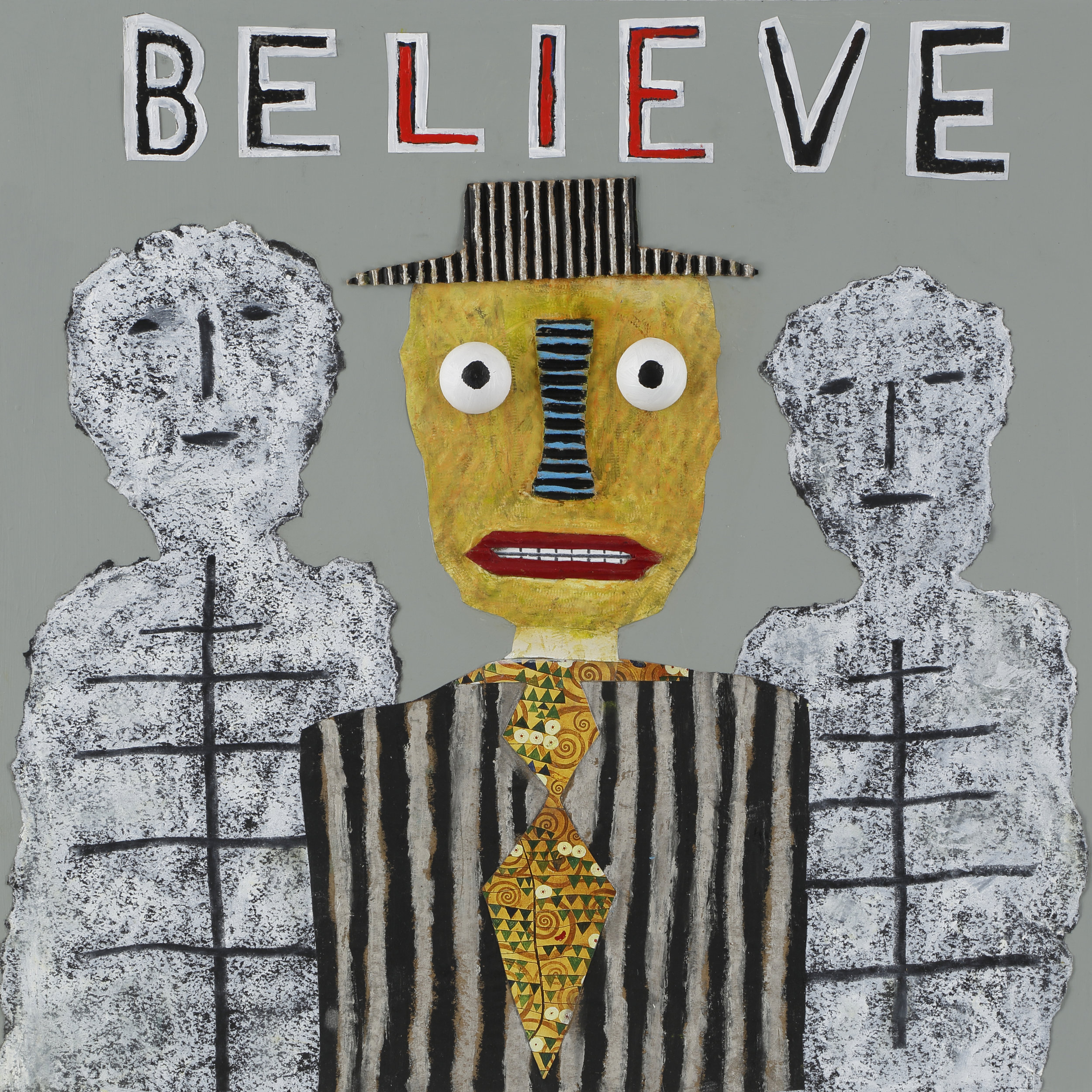 """""""Believe"""", Tad DeSanto, mixed media, 24x24in NFS (sold)"""