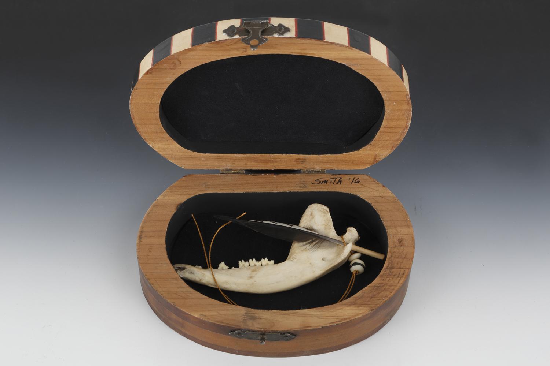 """Bone Fetish Box"" by Wendi Smith (detail)"