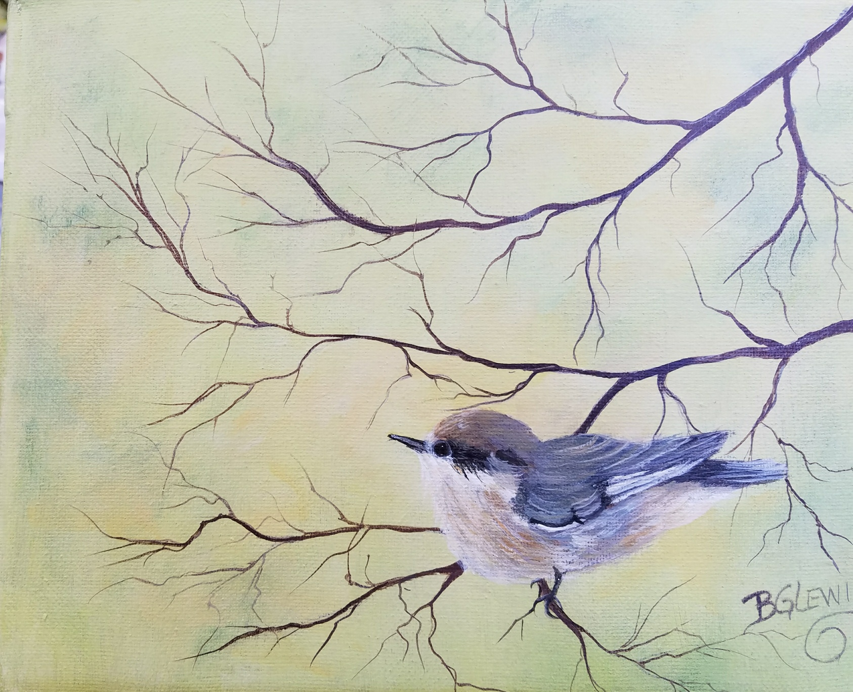 """""""Morning Melody"""" by BG Lewis, acrylic, 11x14in, $175"""