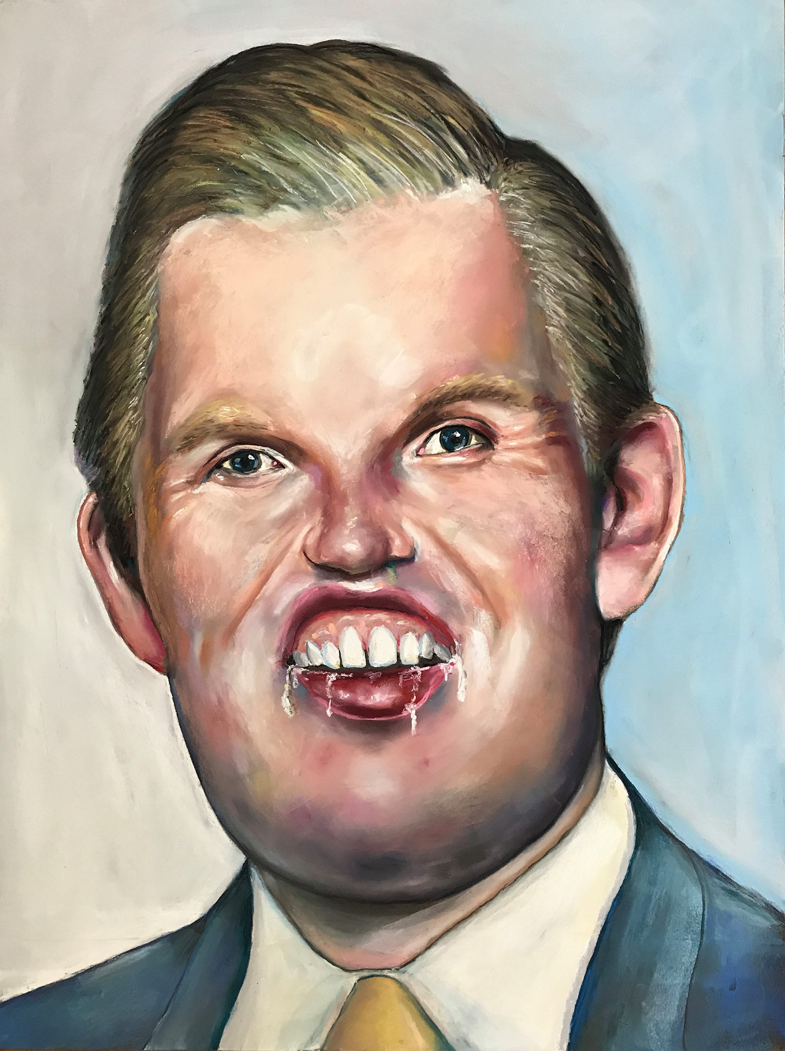 """""""Eric Andronicus"""" by Shayne Hull, pastel on board, 2017, $575"""
