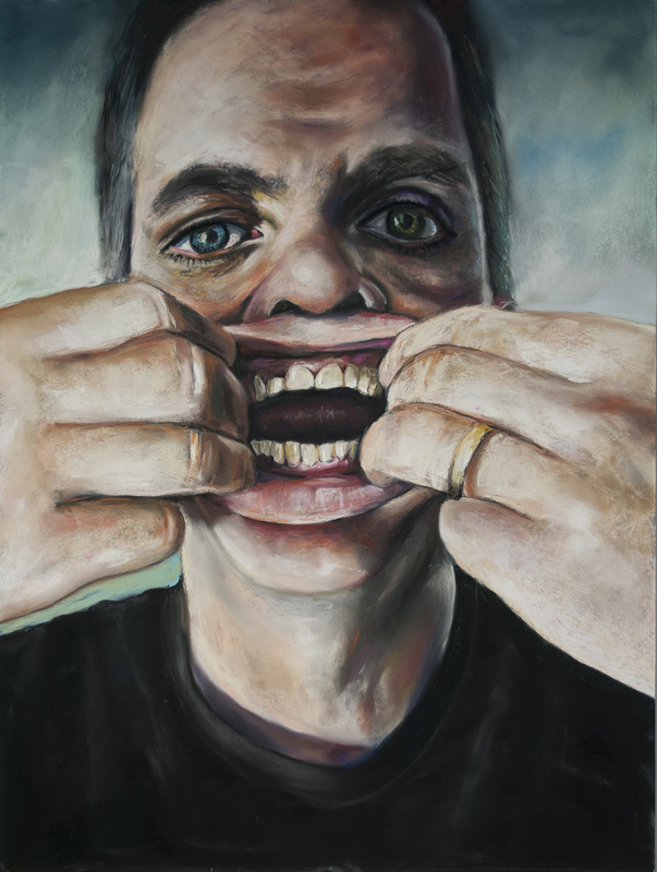 """""""Are We Not Men?"""" by Shayne Hull, pastel on board, 18x24in, 2014, $575"""