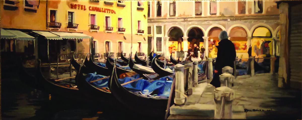 """Gondolas"" by Jill Baker, oil, 30x20in, 2017, NFS/Prints available $200"