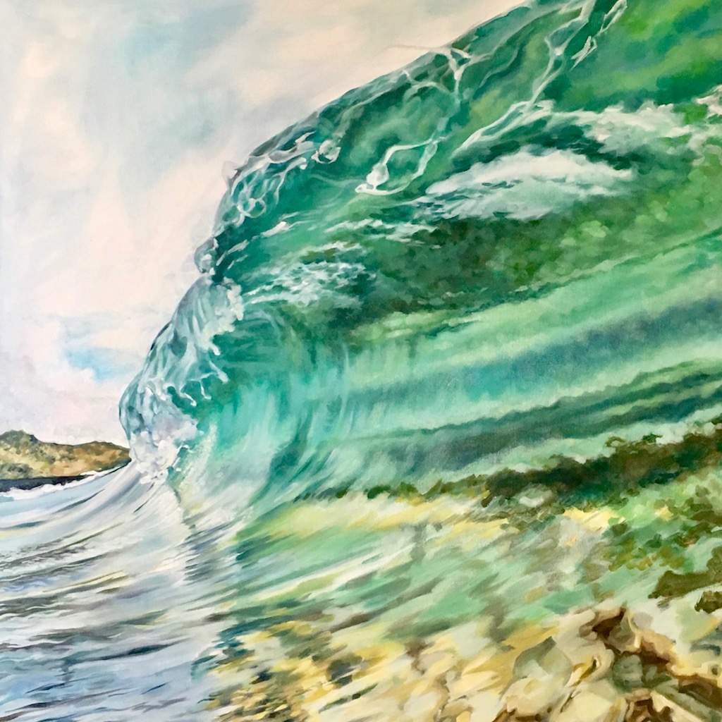 """Wave"" by Carrie Johns, oil, 24x24in, 2017, POR"