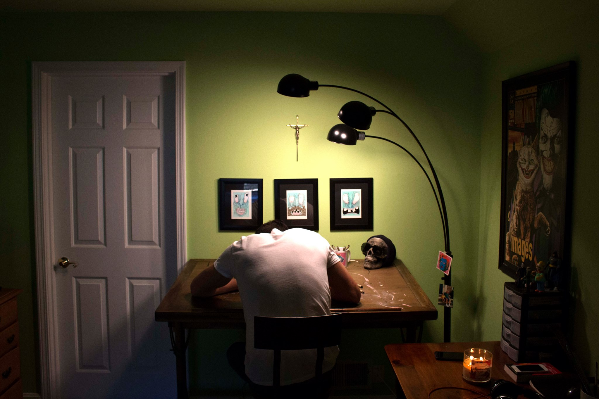 The artist in his studio.