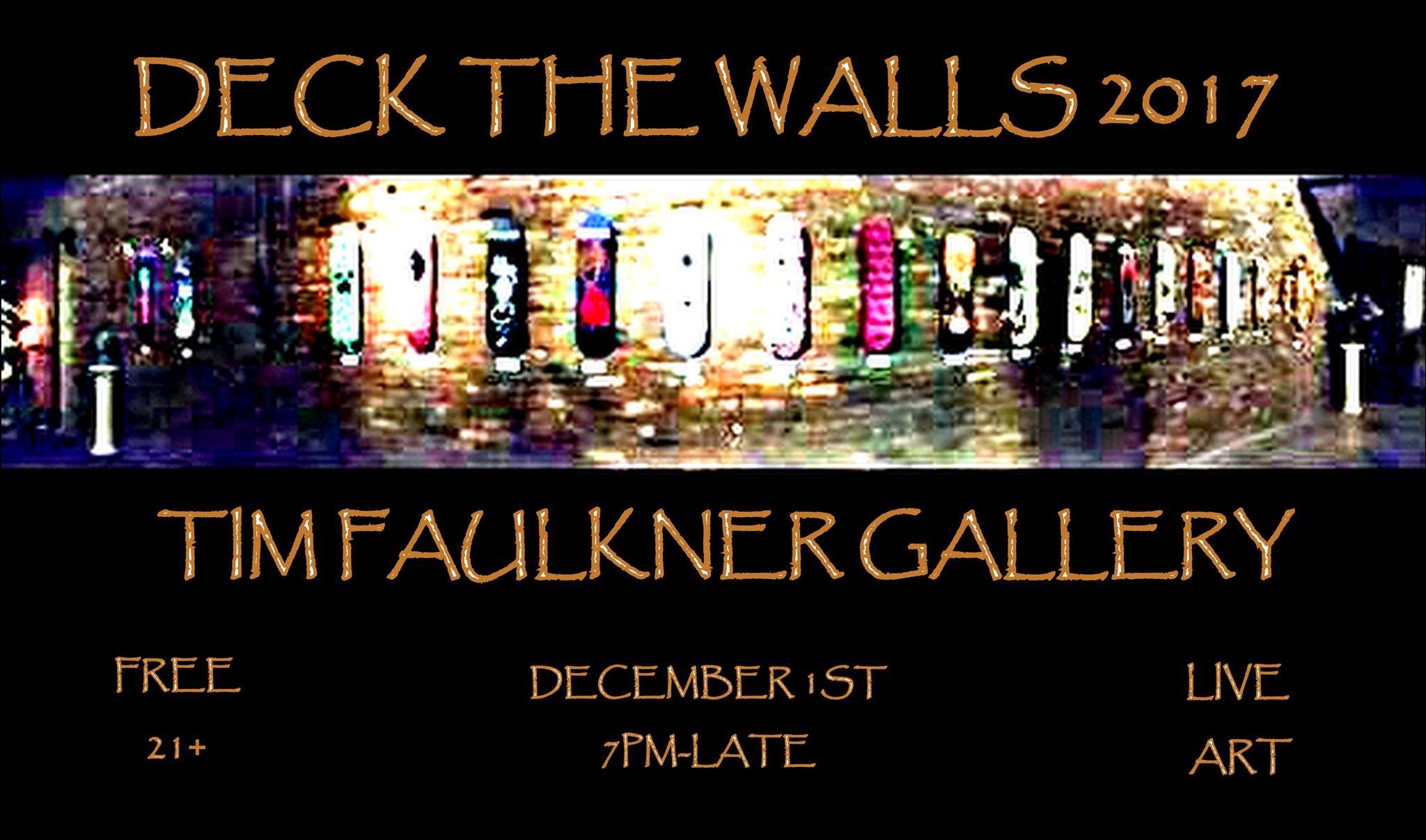 """FRIDAY:  It's time to """" Deck the Walls """" again at the Tim Faulkner Gallery Because it's a """" Winter Wonderland! """" at Reverly Boutique Gallery """" Don't Krampus My Style """" this holiday season at Block Party downtown Craft offers """" Atmospheric Energy """" by Justin Rothshank Moremen Moloney highlights """" The Elegant Form """" Art Sanctuary shows a """" Studio Artists Exhibition""""    SATURDAY:  The Flea Off Market moves indoors to Art Sanctuary for the """" Holiday Bazaar """" """" Come Home """" with Angie Reed Garner to Consider Boutique   ALL WEEKEND:  """" The Square""""  screens at the Speed   TUESDAY:  Art Sanctuary hosts even more """" Holiday Art!"""""""