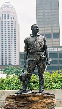 Ed Hamilton's statue of York, who was part of the Lewis & Clark expedition.