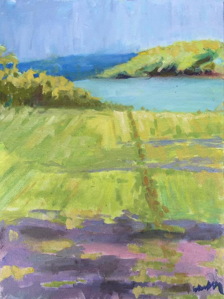 """Harper's View"" by Celia Kelly, oil on canvas,12x9in,2017, NFS"