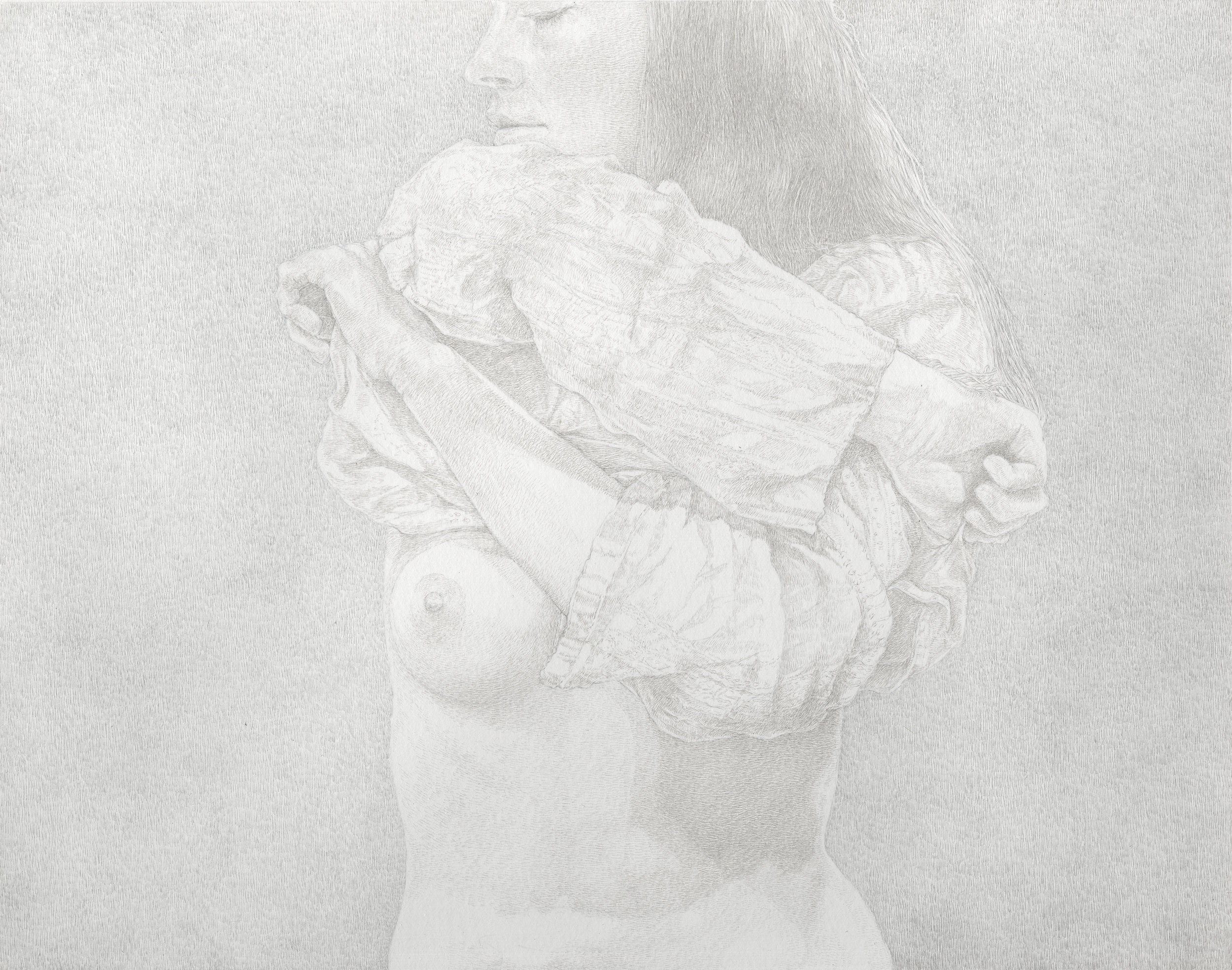 """""""The Friday Sessions - The Gauze Shirt"""" by James Grubola, silverpoint, POR"""