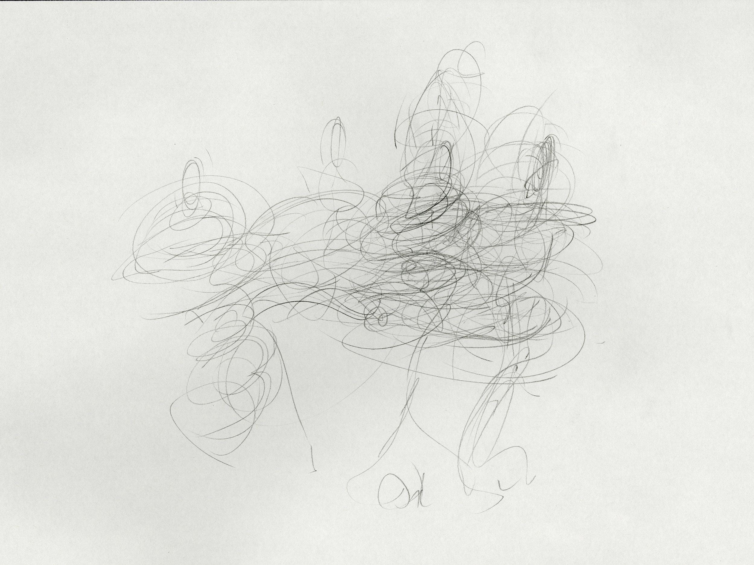 """The Thursday Sessions - 19 January - VII"" by James Grubola, graphite, POR"