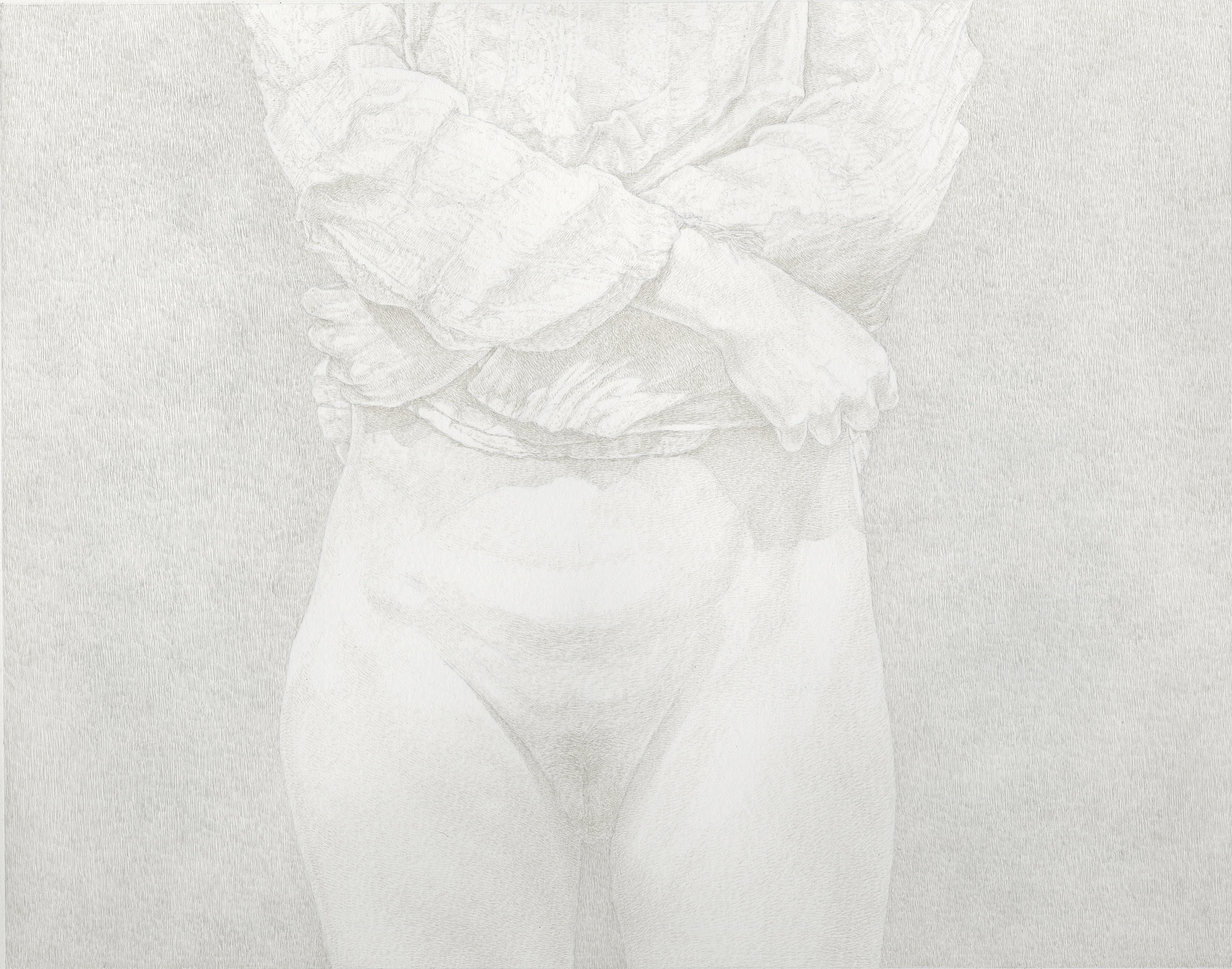"""""""The Friday Sessions - The Gauze Shirt 1"""" by James Grubola, silverpoint, POR"""