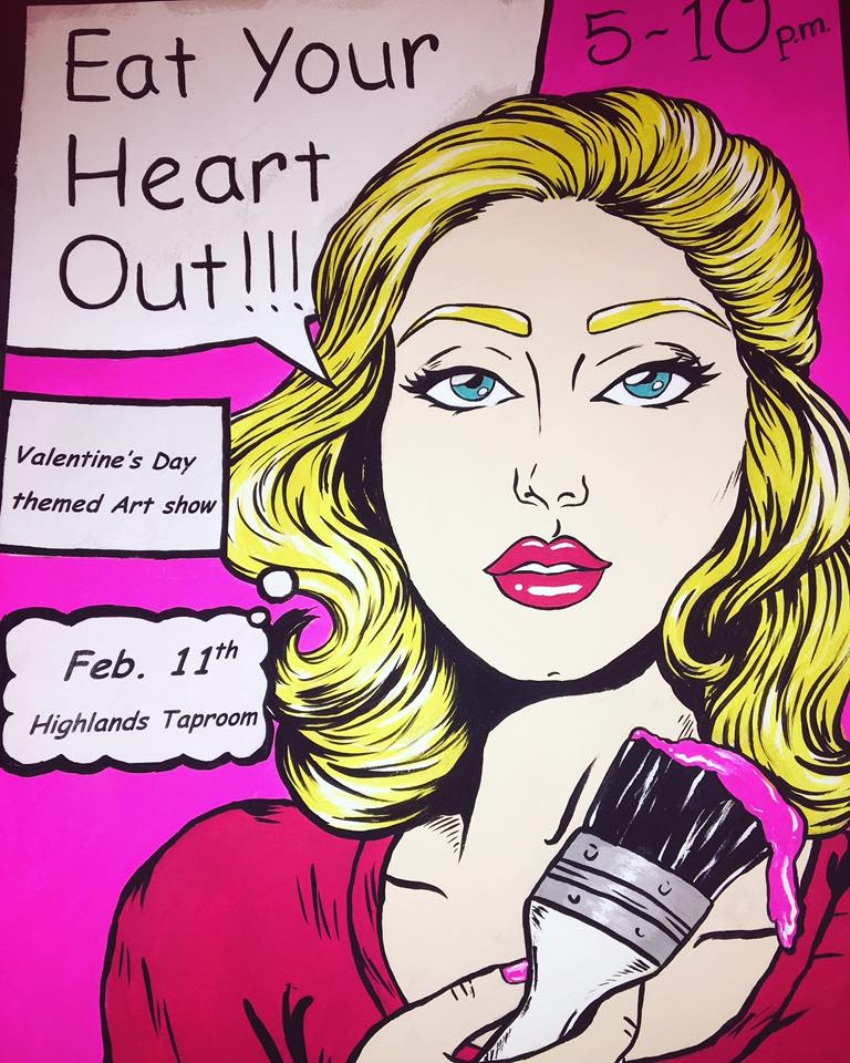 """FRIDAY:  """" Galentine's Day """" is here again at Block Party  Moremen Moloney  hosts Dave Caudill and Miguel Salvo   SATURDAY:   Ultra Pop 's annual Valentine's show returns   SUNDAY:  It's a Valentine's art show at  Highlands Tap Room    THURSDAY:  Members only   can attend this preview at the Speed Art Museum"""