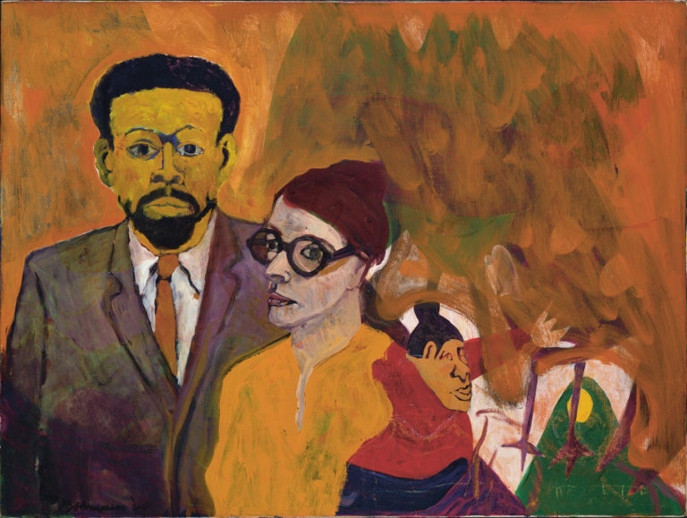 """""""Le Roi Jones and his Family"""" (1964) by Bob Thompson,oil on canvas, Hirshhorn Museum and Sculpture Garden, Smithsonian Institution, Washington, DC (© Estate of Bob Thompson; courtesy of Michael Rosenfeld Gallery LLC, New York, NY"""