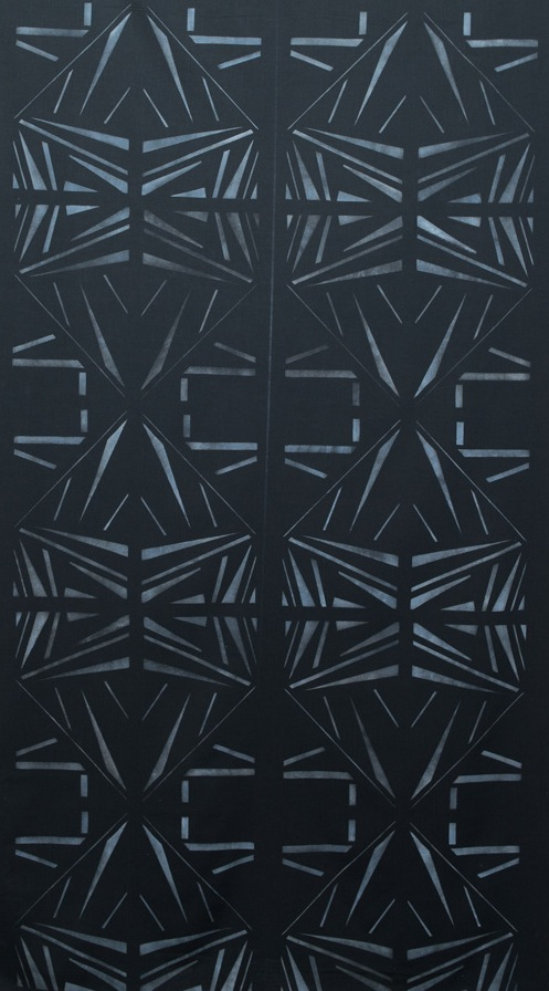"""Untitled ELA #1"" by Elmer Lucille Allen, Stenciled Wall Hanging Black Polyester Fabric Price, $750 