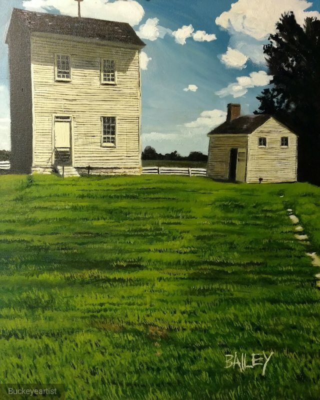 """Shaker Village"" by Brian Bailey,Oil on canvas, 16x20in, 2017, POR"