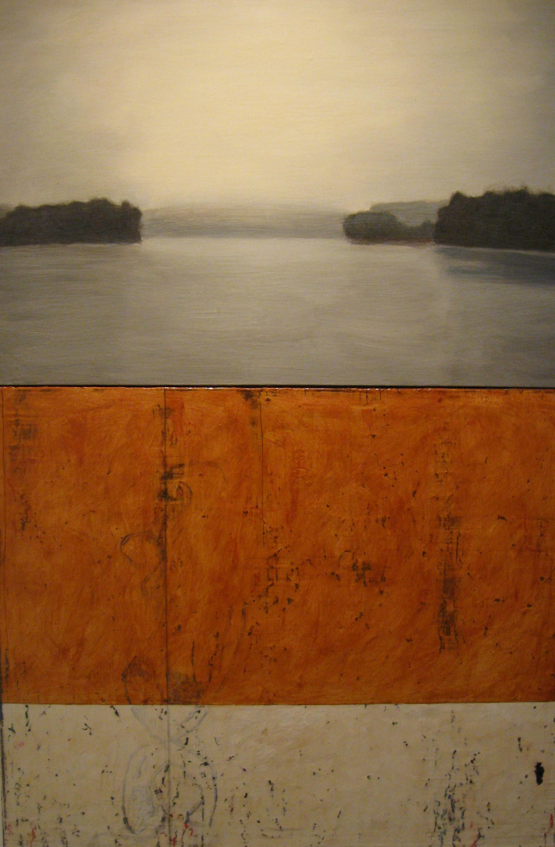 """Calendar #3"" by Chuck Swanson.Acrylic on canvas, 70x40in, POR"