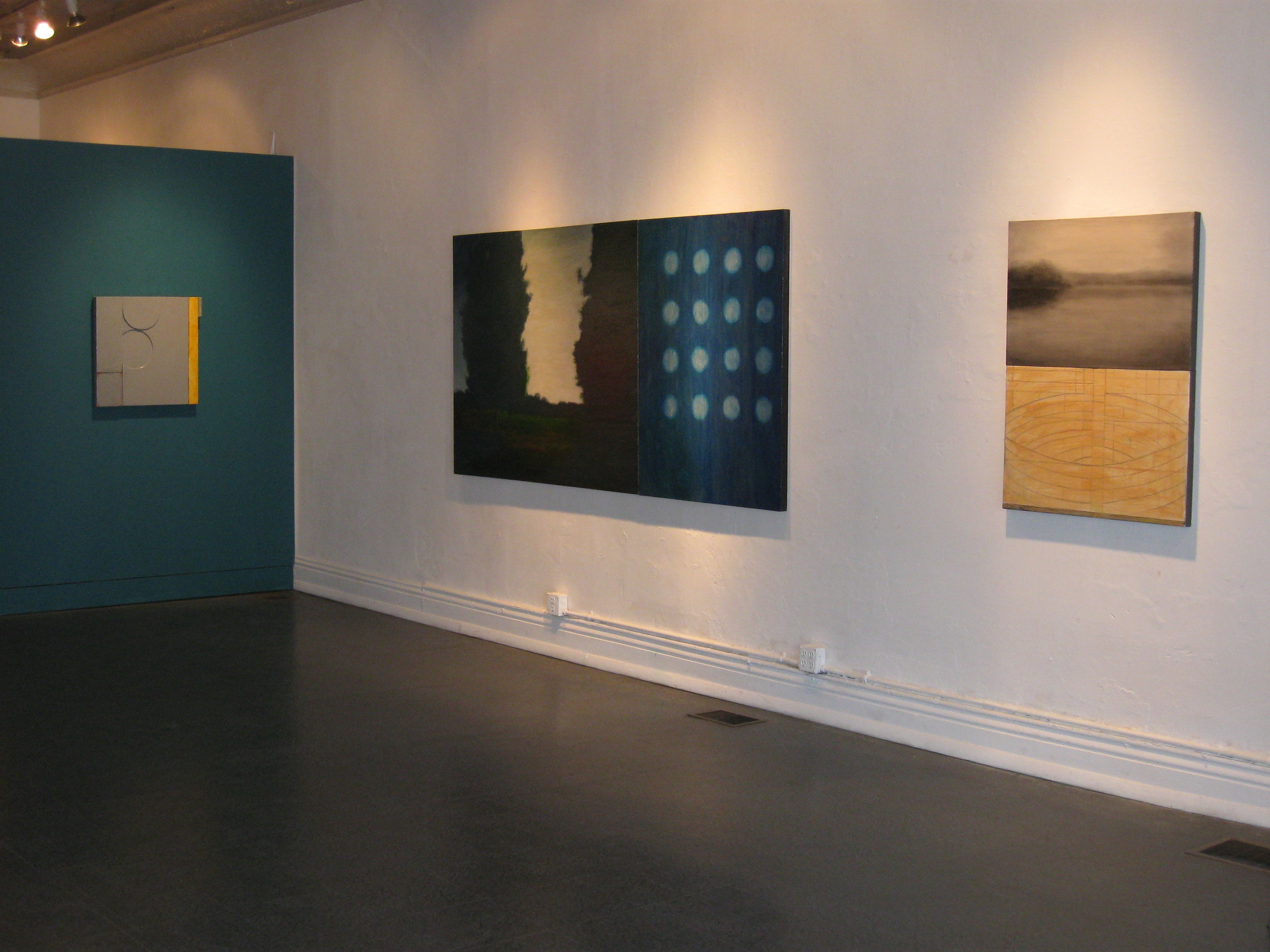 "installation view, ""Calendar #4 and Calendar #5"", by Chuck Swanson"