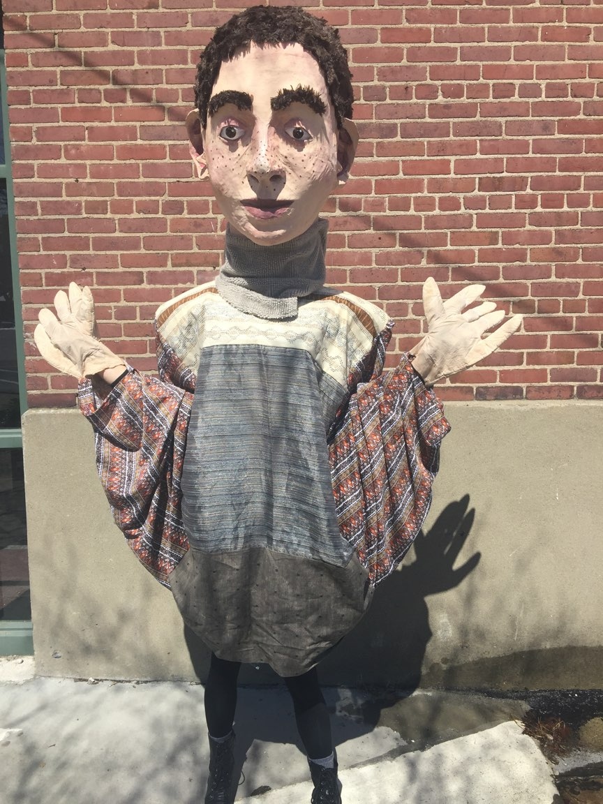 """Peter"" (for Peter and the Wolf) by Julia Davis for Squallis Puppeteers, 2018"