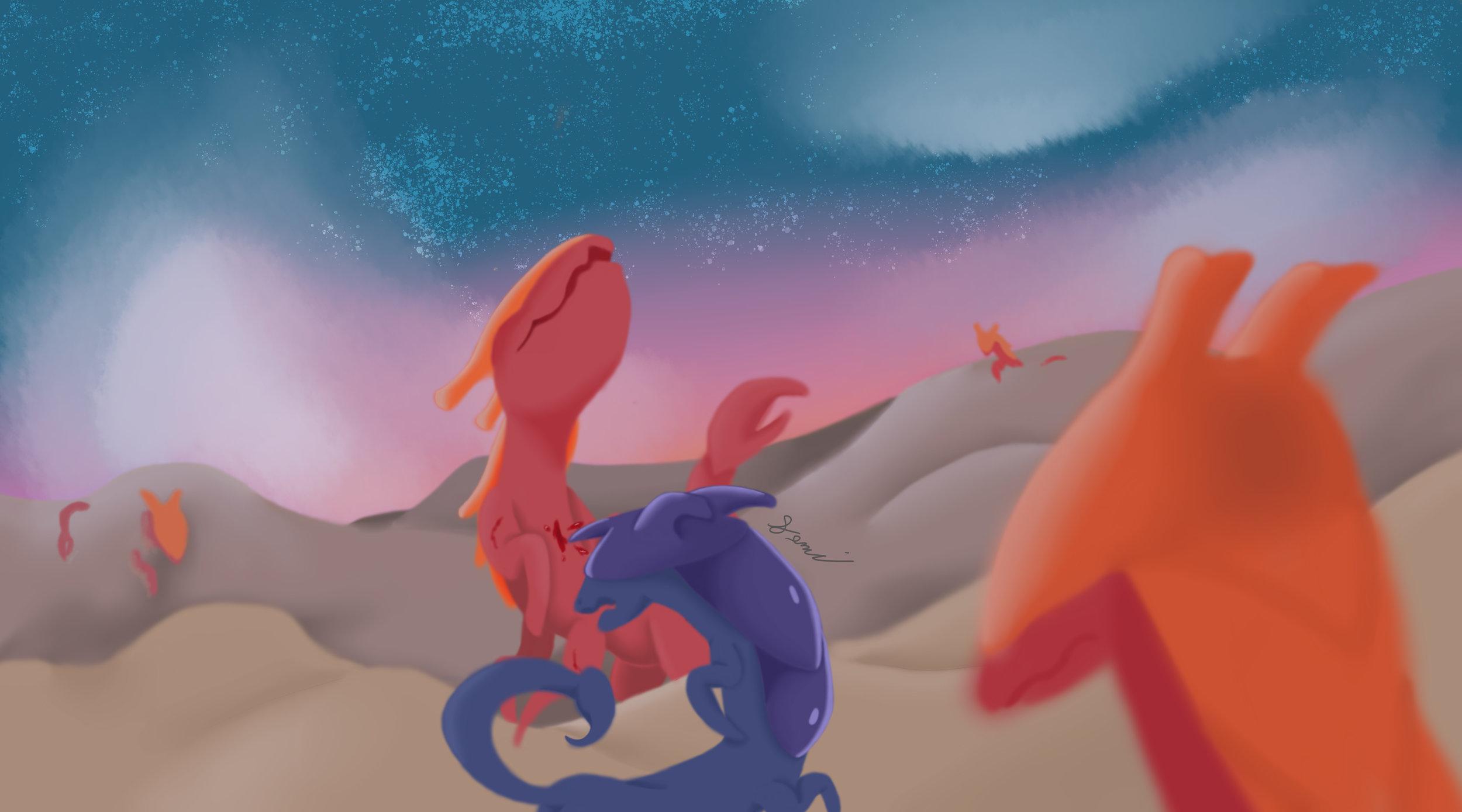 """""""Desert Story"""" by Mickaela McKinney, digital illustration"""