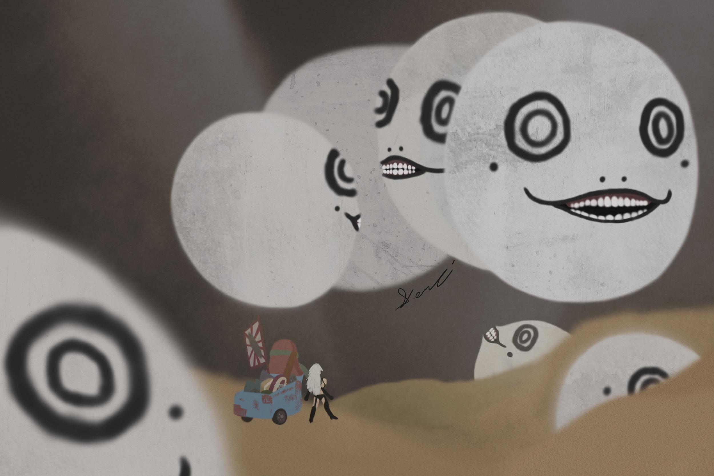 """""""Emil Beginnings"""" by Mickaela McKinney, digital ullustration"""