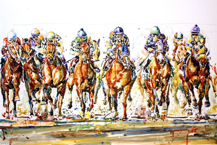 """""""Derby Field #2"""" by Richard Sullivan"""