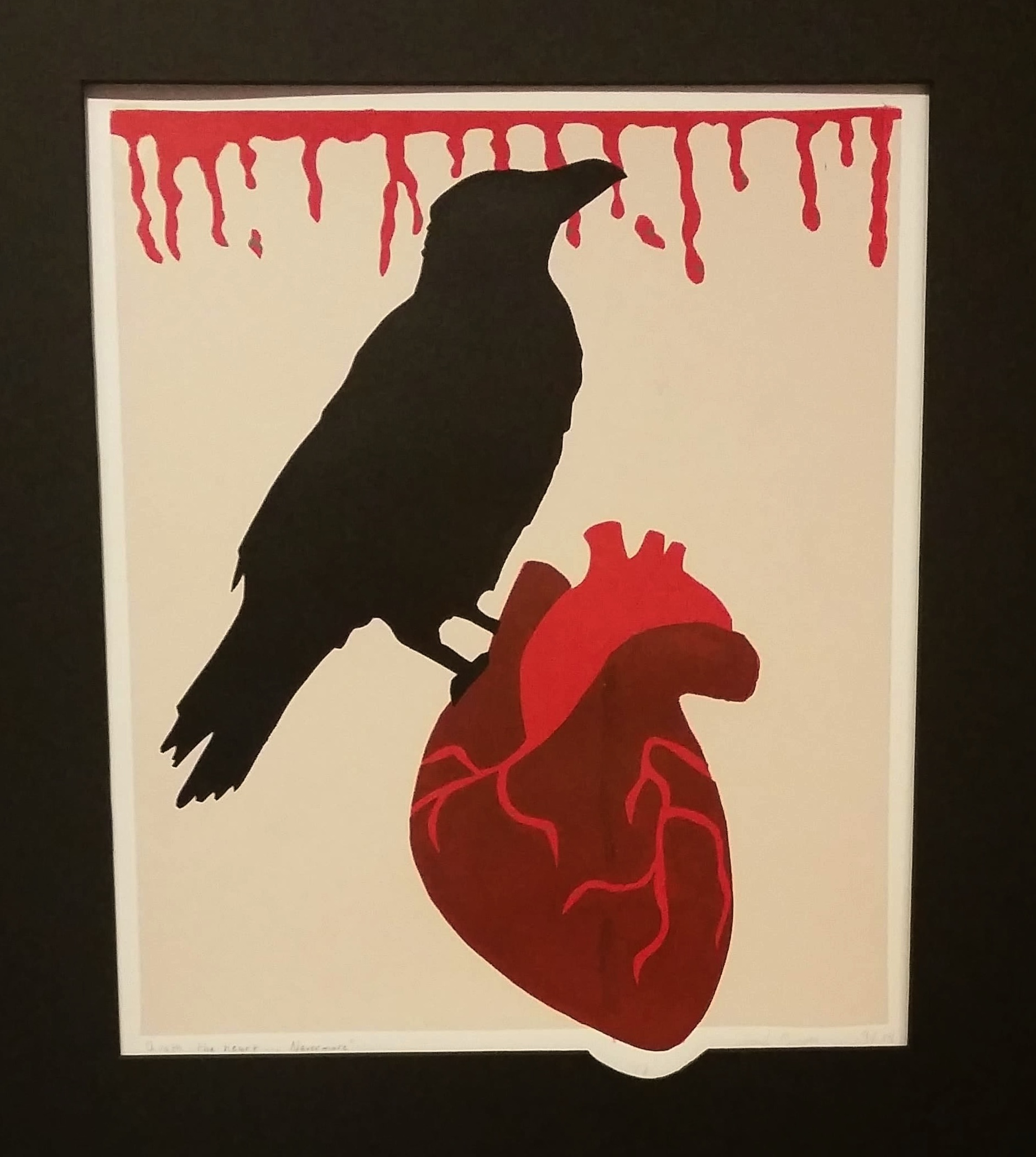 """""""Quoth the Heart... Nevermore"""" by Abigail Munger, Acrylic print, 11x14in, 2017"""