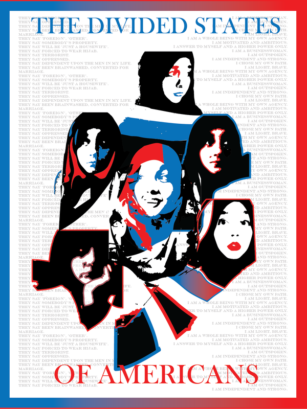 """""""The Divided States of Americans (2)"""" by Brianna Harlan,Graphic Art,16x20in,5 Posters"""