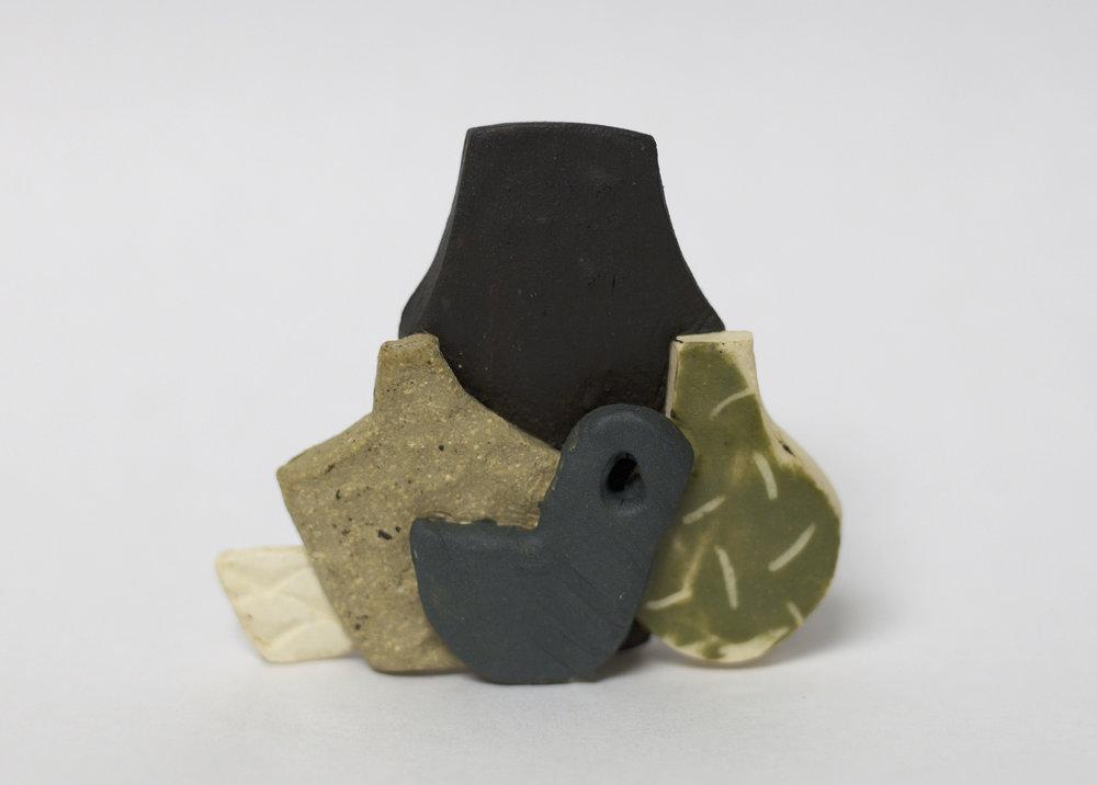 """Miniature.25"" by Lindsey Dezman,Ceramic, 3.5x1.5x22in, 2018"
