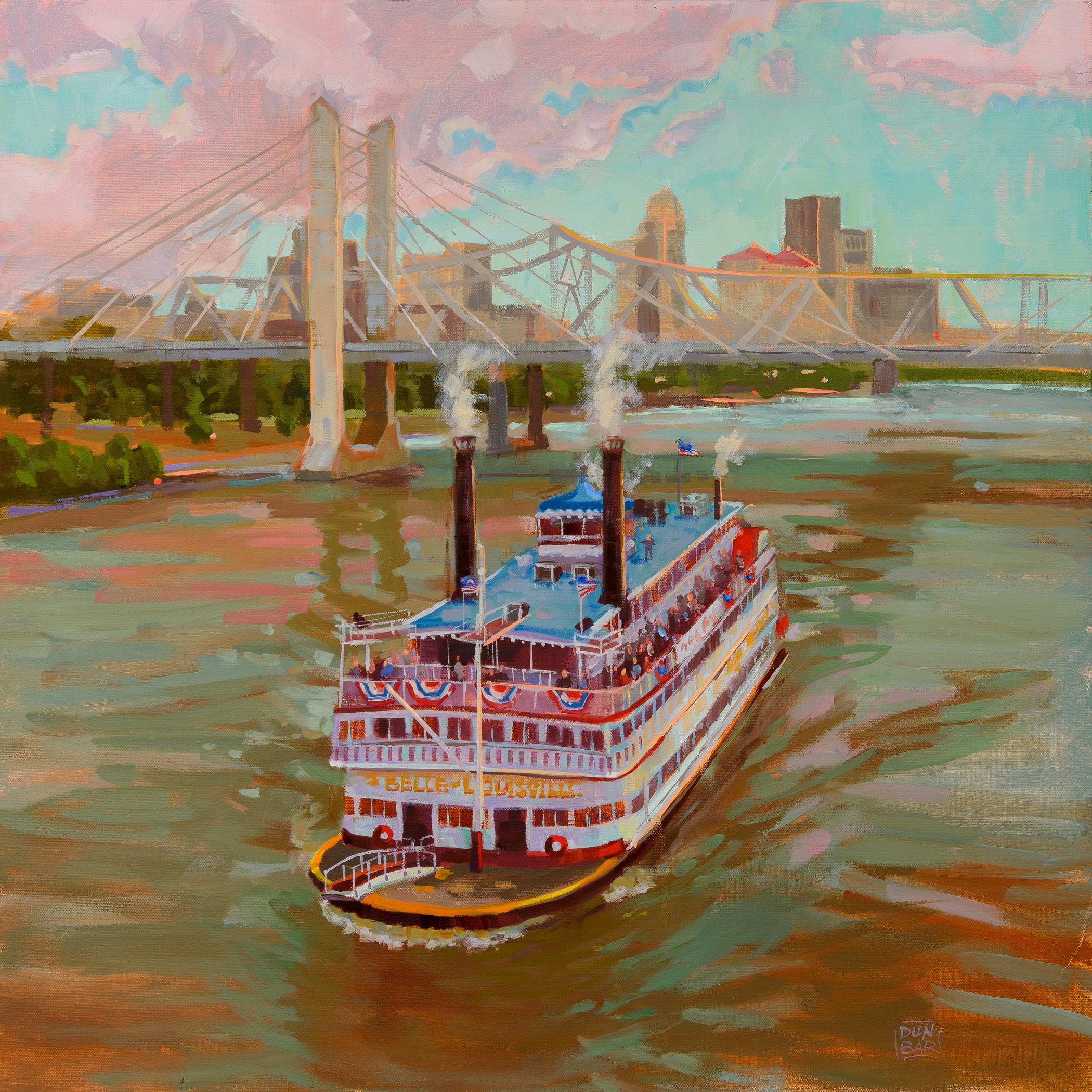 """Belle and Lincoln Bridge"" by Lynn Dunbar Bayus, Oil canvas paint, 18x18in, $1200"