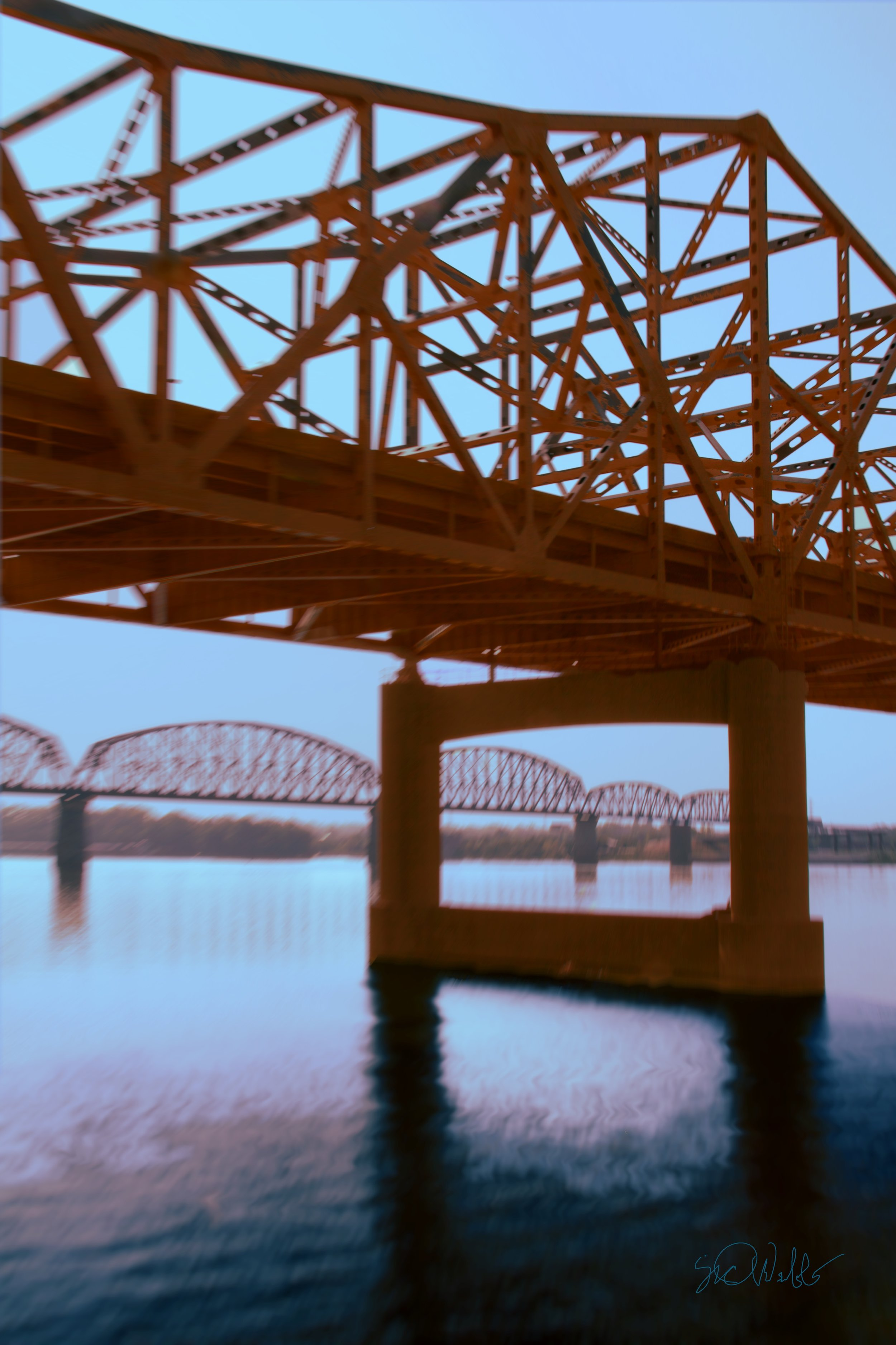"""Bridges"" by Sid Webb, Photograph, 12x18in, 2018, $125"