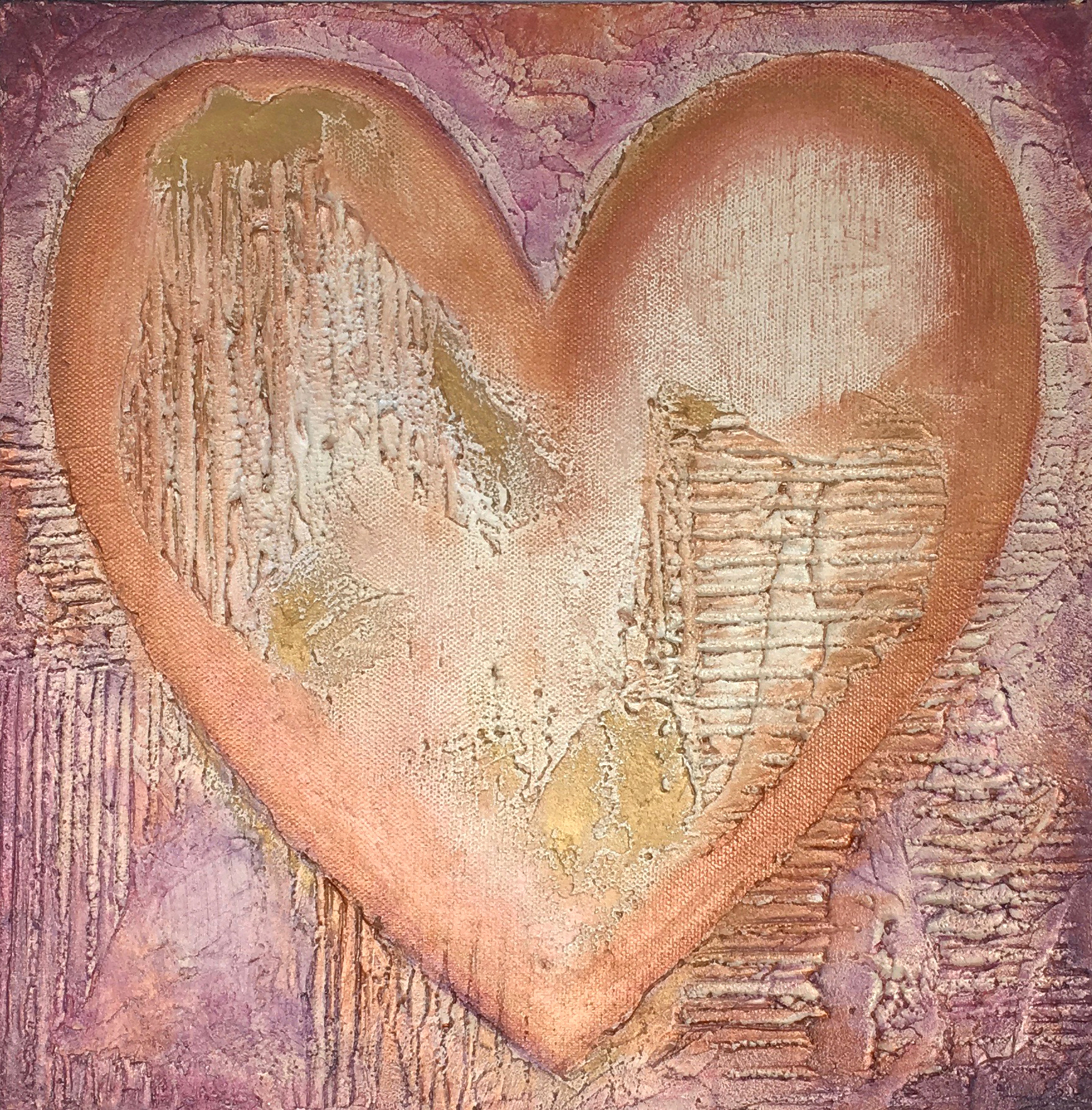"""Touched"" by Deb Ogburn, Mixed Media on gallery profile canvas, 12x12in 2017, $65"