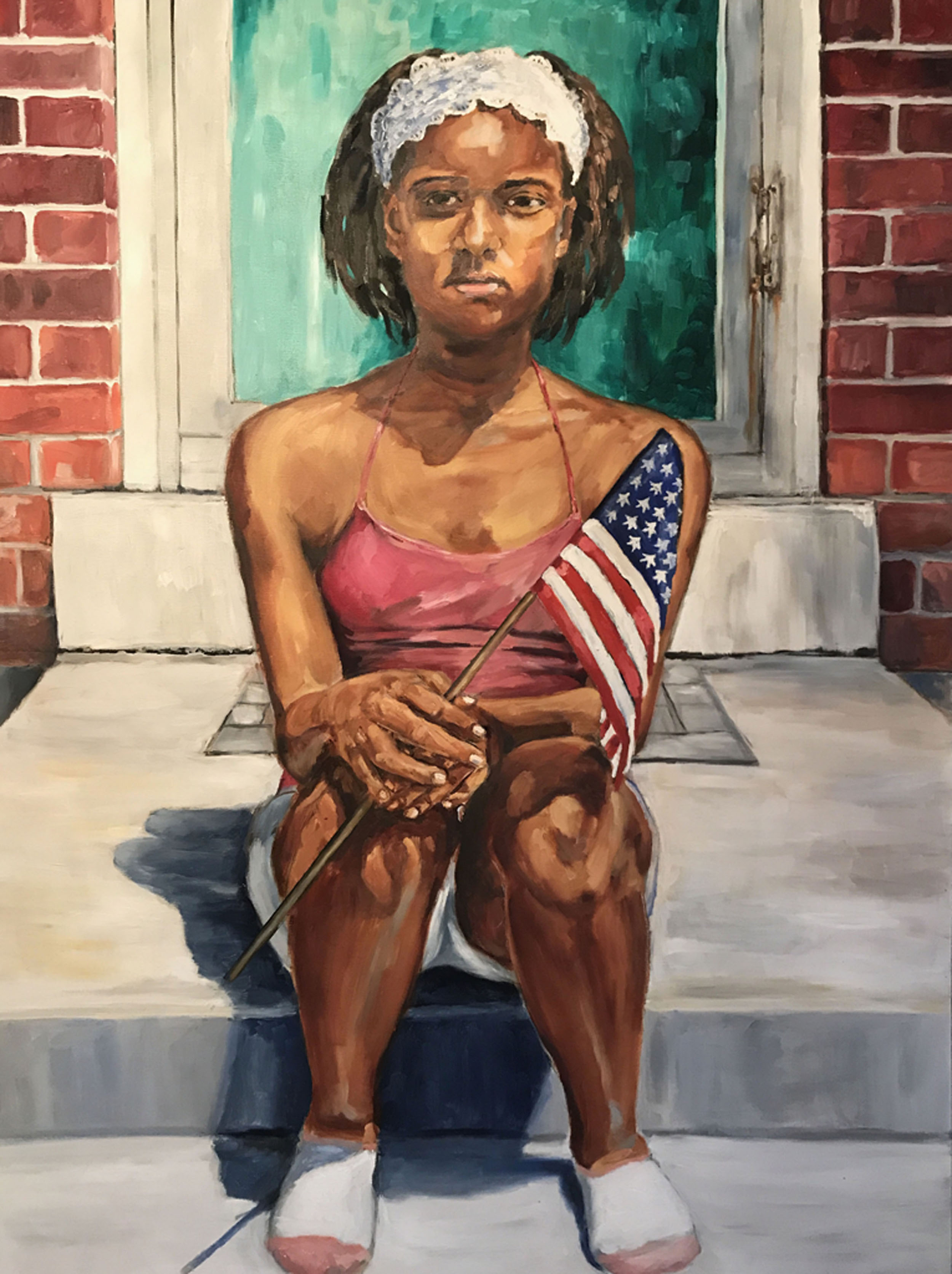 """""""Fourth of July"""" Sandra Charles, Oil on canvas, 36x48in, 2016, $3750"""