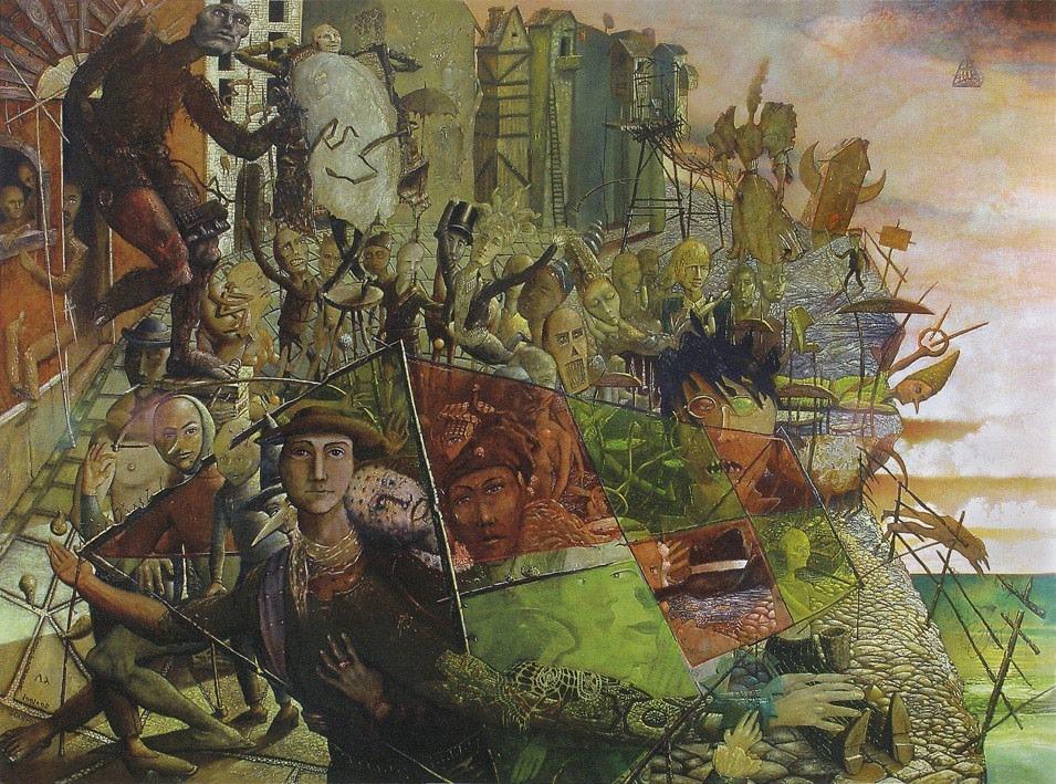 """""""Yaraia"""" by Hawk Alfredson, Oil on canvas, 59x79in, 1991 - 2006"""