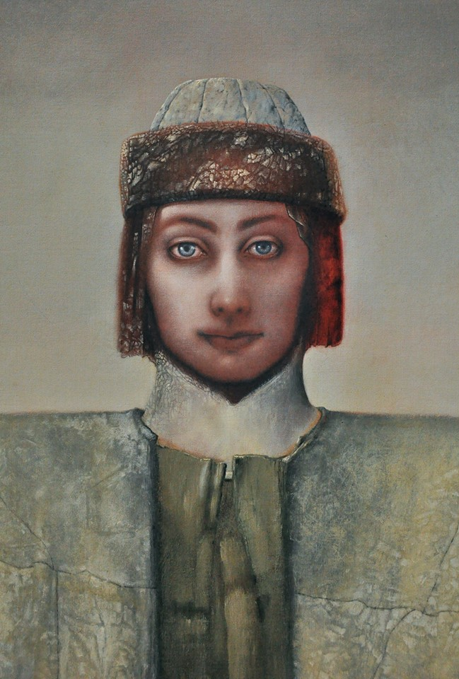 """""""Icon For An Unknown Religion"""" (detail) by Hawk Alfredson, Oil on canvas, 39x33in, 1999"""
