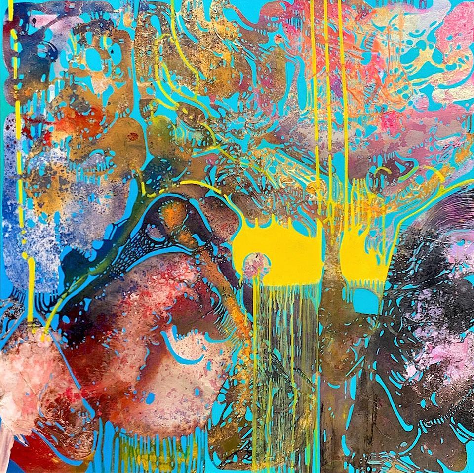 """Citizen"" by Vian Sora, Oil on canvas, 48 x48 In, 2019"