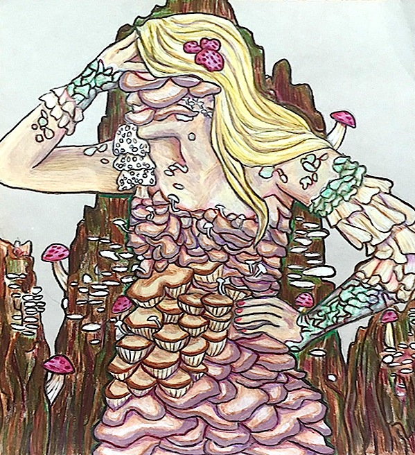 """Mushroom Bride"" by Natalie Stastny, Atherton High School"