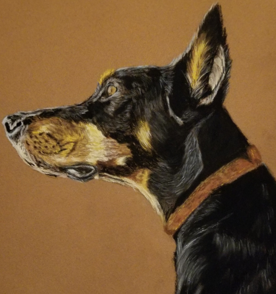 """Dobey"" by Macei Hamilton, Pastel on sanded paper, 14x10in, 2019, Private Collection"