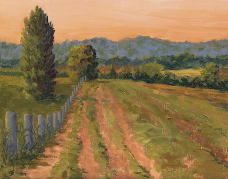 """Graf Farm Revisited"" by Amy Welborn, Oil, 11x14in, 2018, $450"