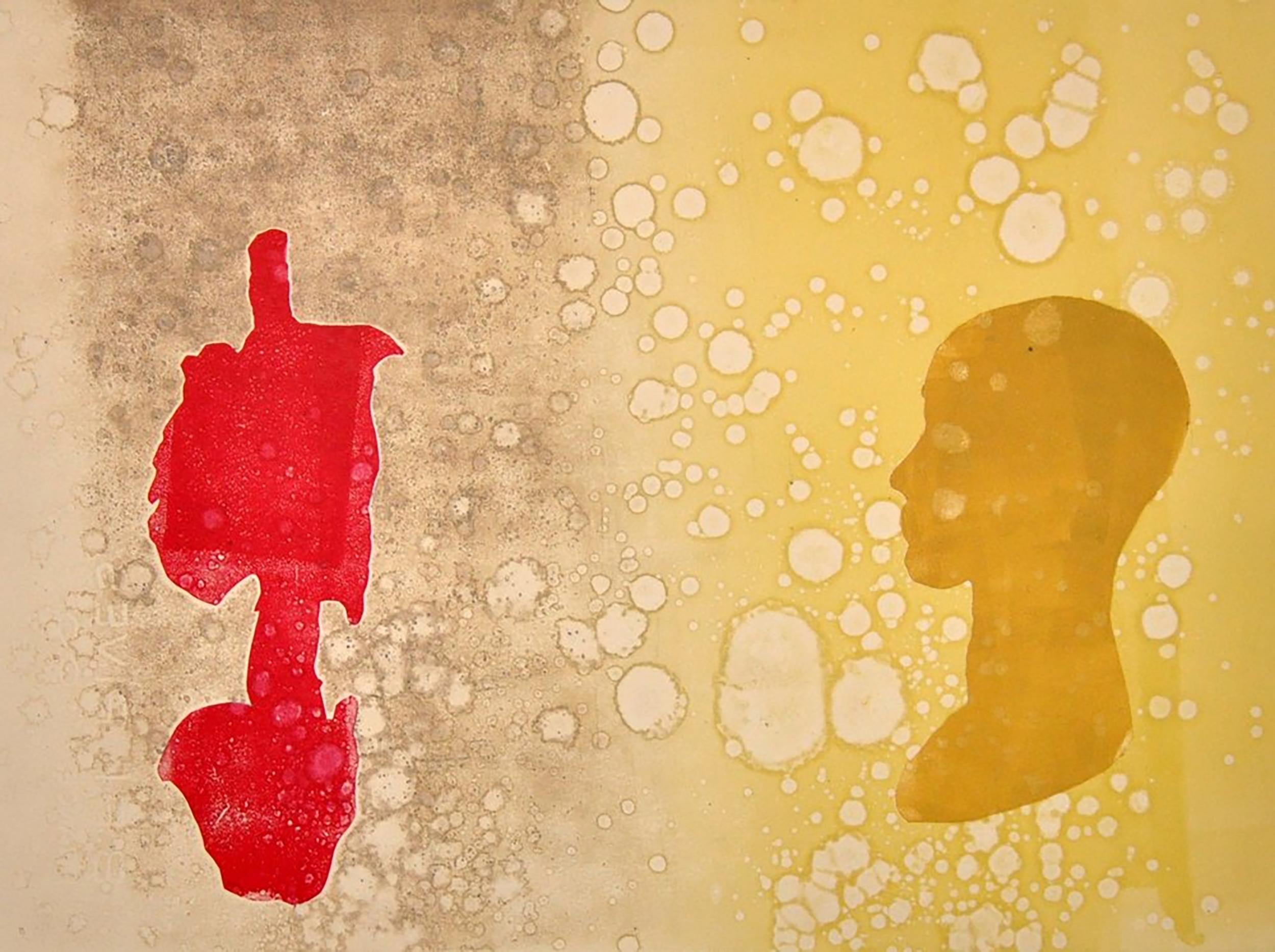 """KCJ Szwedzinski, Ask me How I Really Feel , 2013, montoype, 15"""" x 11"""""""