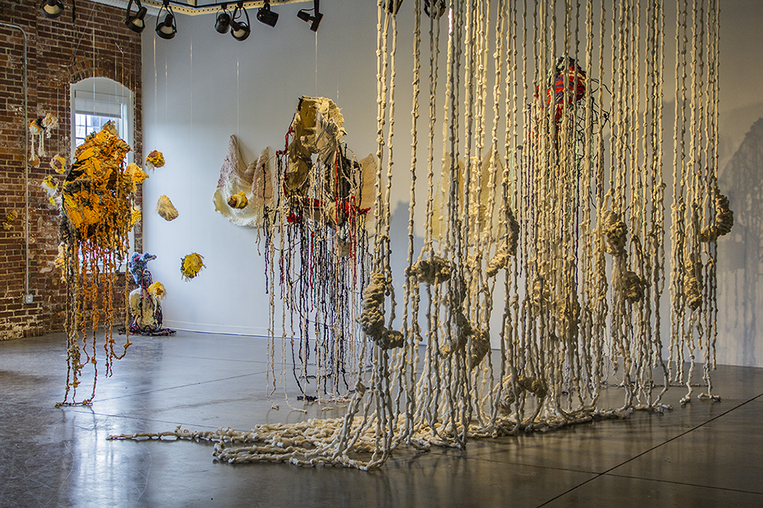 """Knotty Mountains Installation"" by Amalia Galdona Broche, Fiber, 2019"