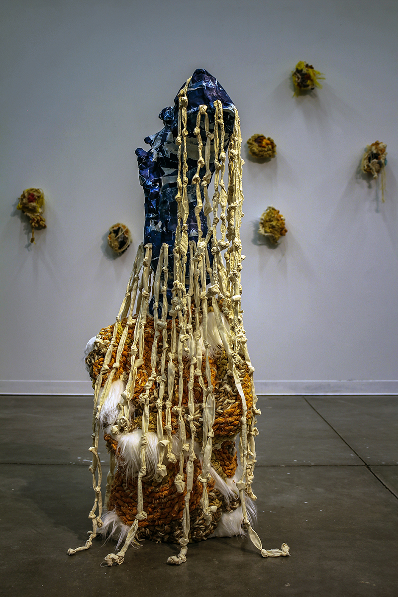 """Sisters Our Lady of Regla"" by Amalia Galdona Broche, Fiber installation, 50x20x20in, 2018"