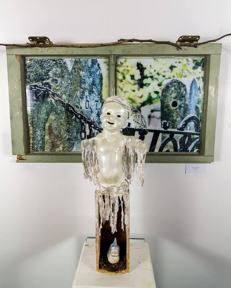 """Clothesline Spirit"" by Jada Lynn Dixon, Mixed Media, 26x12in, 2019, $300"
