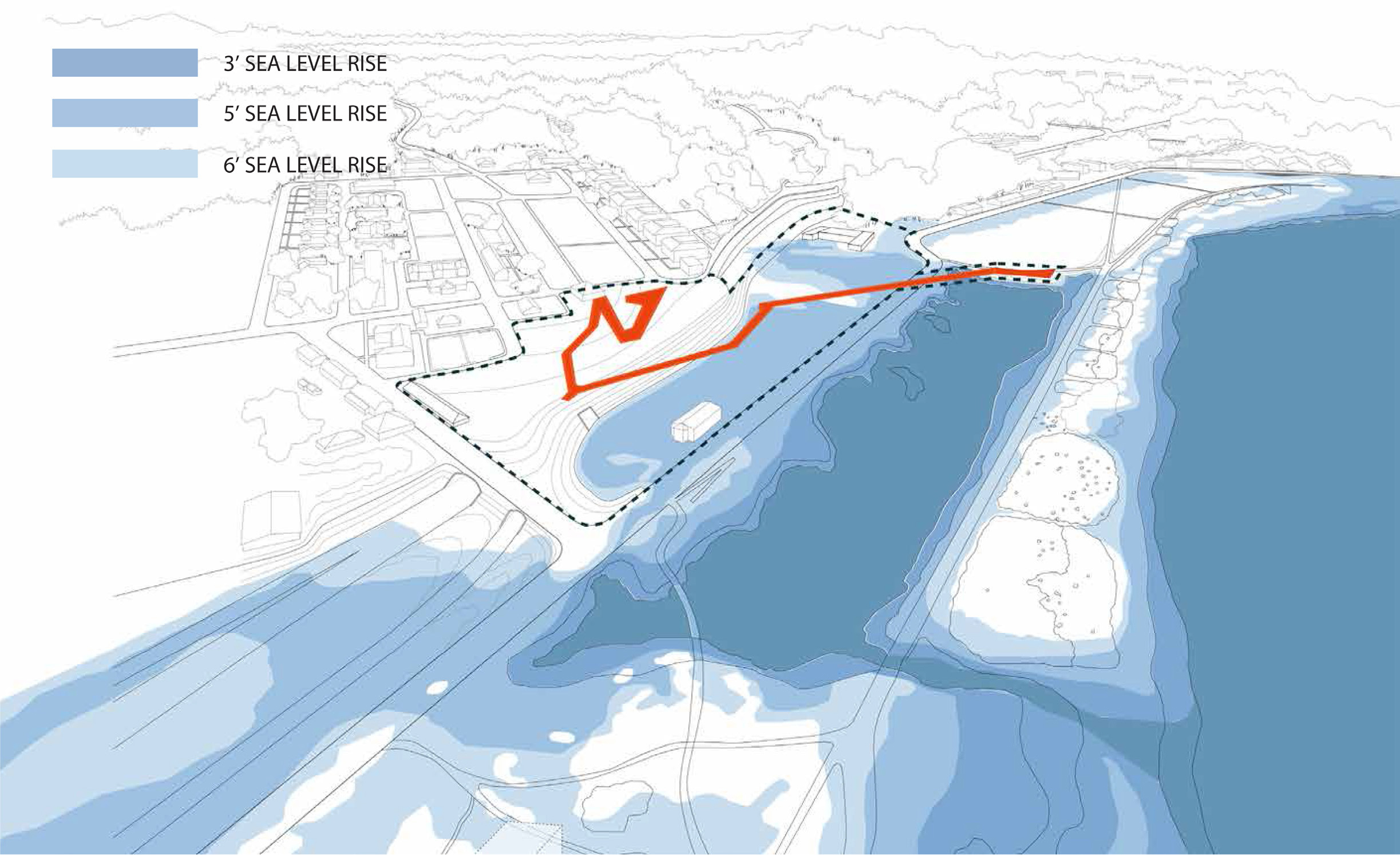 CMG sea level rise diagram