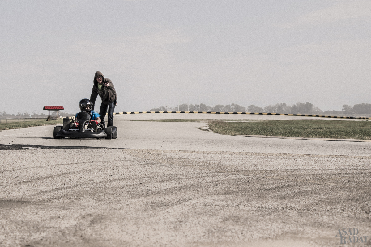 Rotax karting coming to a close.