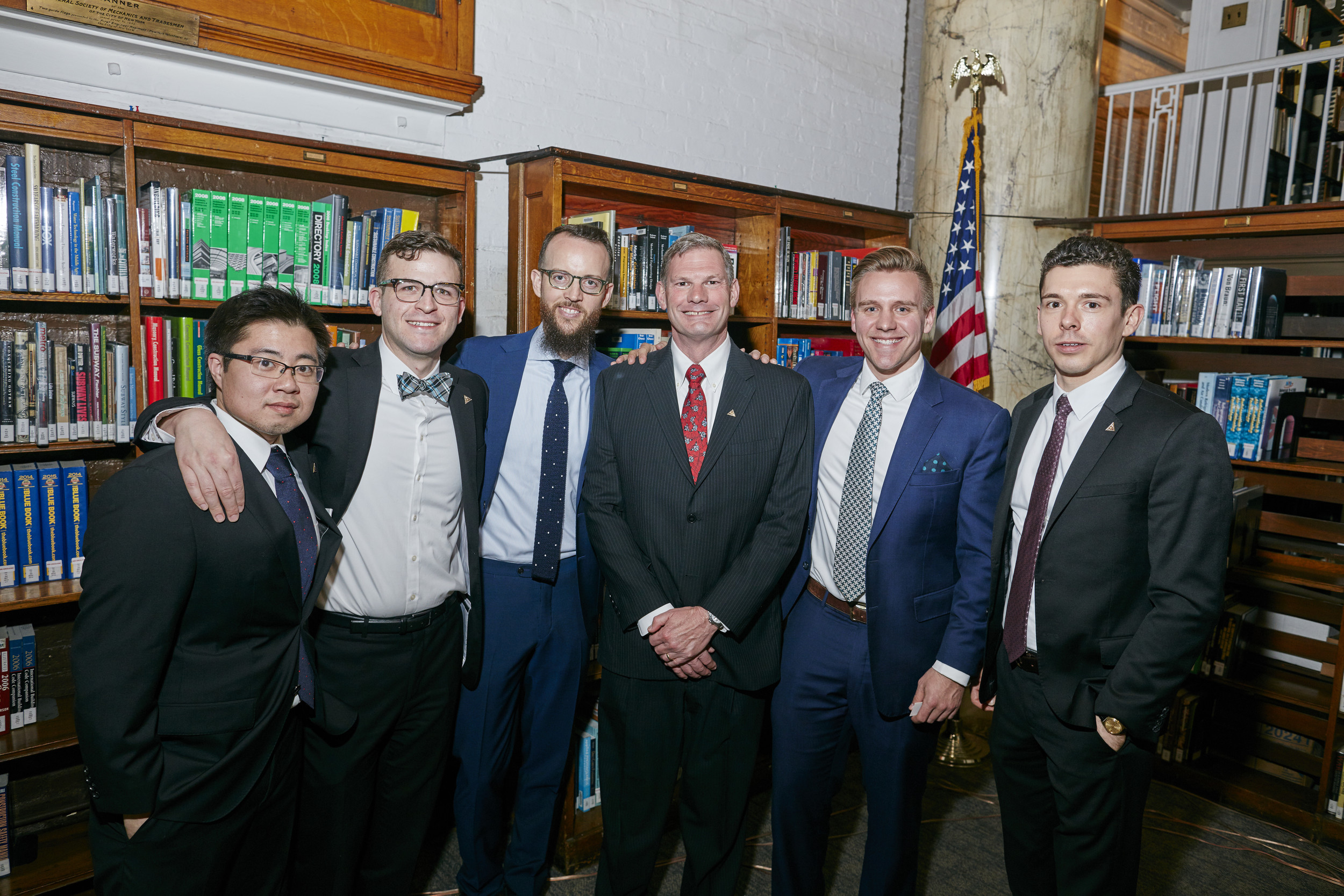 Left to right: Daniel Mooncai - Trustee, Luke Cox-Bien, Trustee, Nicholas Manousos - Vice President, Lance Maxwell - Instructor, Stephen Eagle - Director of Education, Nathan Mosquera - Instructor