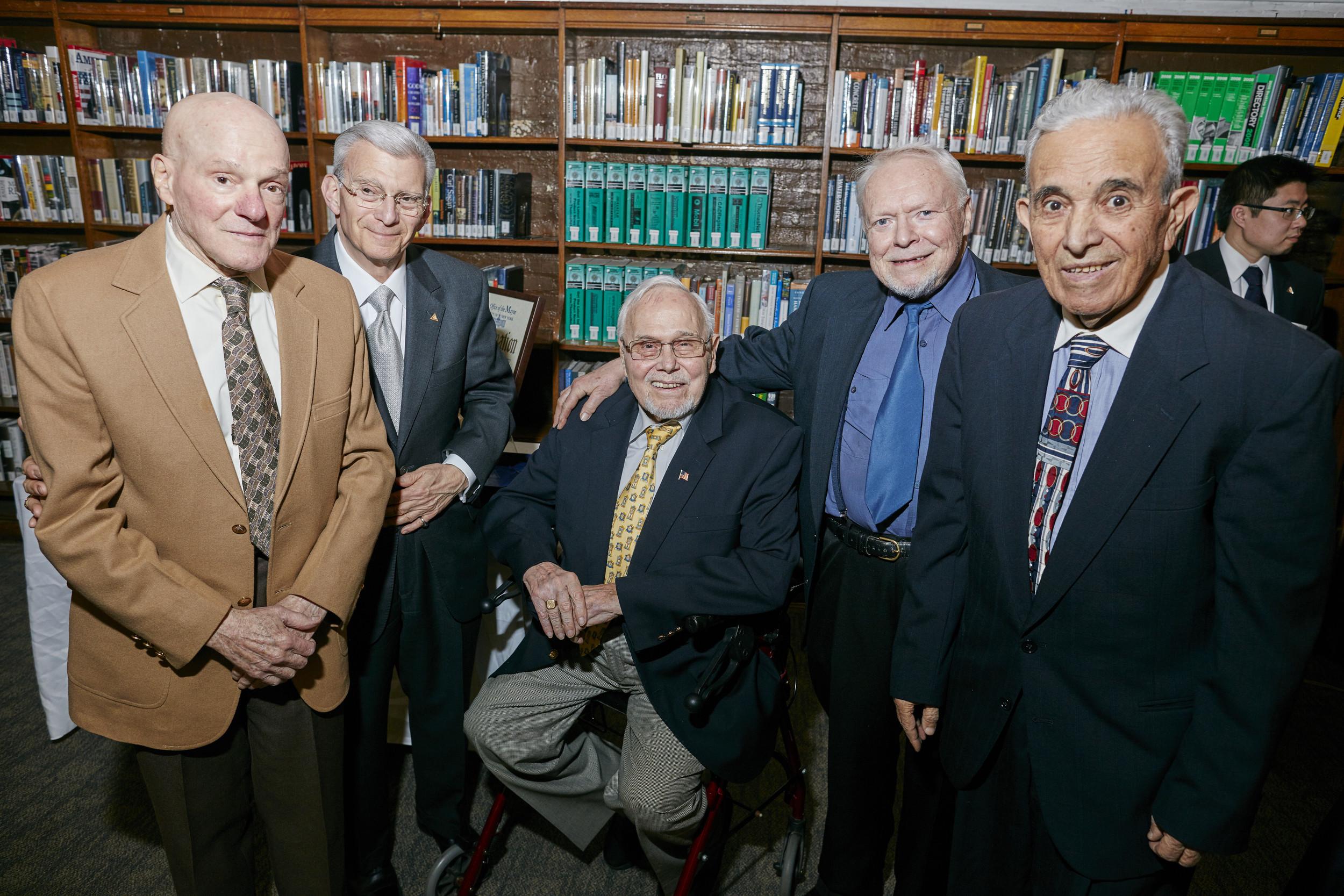 Left to right: Joe Poloso - Fellow, Charles Salomon - Treasurer & Fellow, Hans Weber - Trustee & Fellow, Walter Pangretitsch - Recording Secretary & Fellow, Arsen Manoukian - Fellow