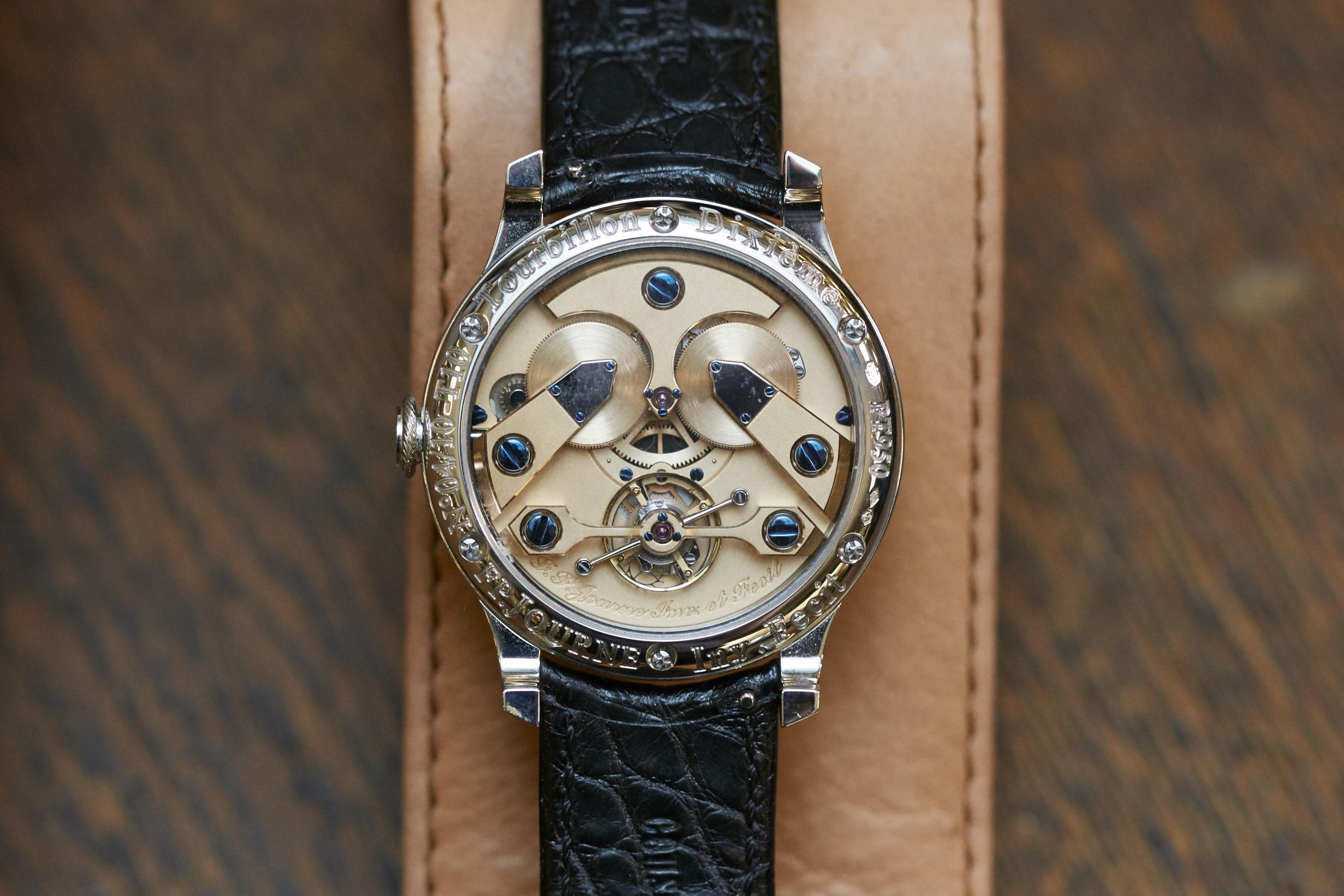 Movement of the F.P. Journe T10 Tourbillon Wristwatch